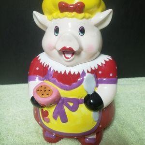 Chef Pig Vintage Ceramic Cookie Jar